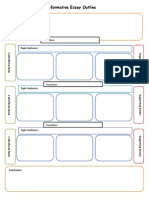 informational essay planning map