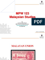 Lecture 6 - The Malayan Union
