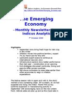 Emerging Economy October 2009 Indicus Analytics