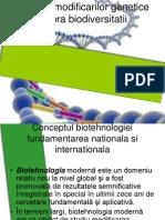 Impactul Modificarilor Genetice Asupra Biodiversitatii