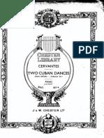 Cervantes Two Cuban Dances
