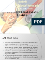 personality traits of apj abdul kalam