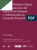 Guía de Práctica Clínica sobreTrastornos del SueñoenlaInfancia y Adolescencia en AtenciónPrimaria