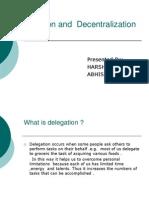 Delegation and Decentralization 121
