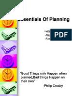 Essentials of Planning