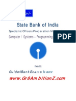 SBI Specialist Officers Preparation Materials