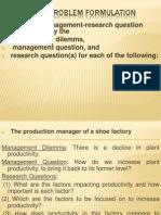 Research Problem Formulation