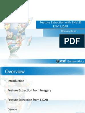 Extracting Features Using ENVI and ENVI LiDAR pdf   Lidar