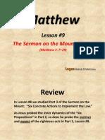 9. the Sermon on the Mount, Part 4