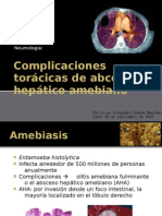Complicaciones torácicas de abceso hepático amebiano
