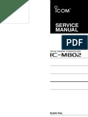 ICOM IC-M802 Service Manual | Amplifier | Audio Electronics
