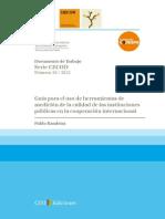 Guía para el uso de herramientas de medición de la calida de las instituciones públicas en la cooperación internacional