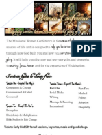 Missional Women Conference Bulletin Inserts