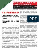 El Despertar de Los Trabajadores - Febrero 2014
