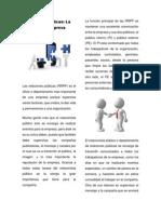 Artículo Relaciones Públicas