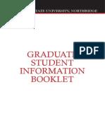 Graduate Student Info Booklet