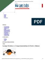 Artigos - Laranja Mecânica e o Comportamentalismo de Pavlov e Skinner