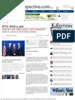 VP Joe Biden, Michael Harris Chancellor, President Barack Obama,  2010 What a Year, Kokomo Perspective