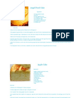 Cake Recipe and Ingredients