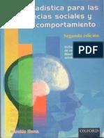 Estadistica Para Las Ciencias Sociales y Del Comportamiento. 2da Ed. Haroldo Elorza