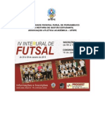13473 Edital IV Interural de Futsal