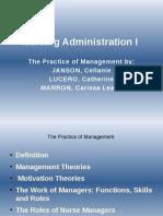 Nursing Administration I