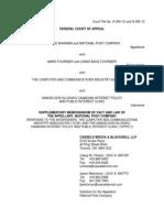 NatPo Supplementary Memorandum of Fact and Law (NP Response to Inte