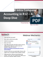 Inter and Intra Company Accounting in R12 a Deep Dive