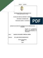 Efectos Economicos de Los Impuestos en El Ecuador