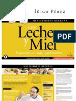 Recetas - Iñigo Pérez - Mis mejores recetas con leche y miel