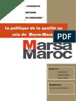 La politique de la qualité de marsa-maoc