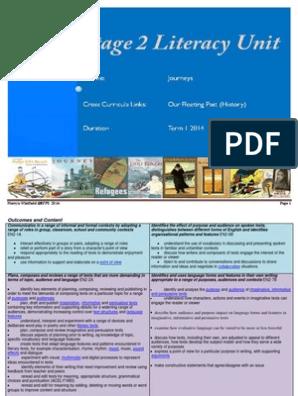 Stage 2 Literacy Unit JOURNEYS   Educational Technology