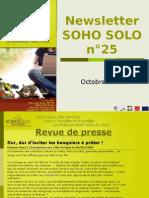 Newsletter Soho Solo n°25 Octobre 09