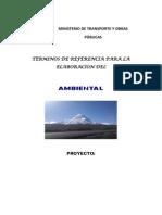 Terminos de Referencia Para La Elaboracion Del Estudio de Impacto Ambiental
