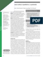 Ciprofloxacine Safety in Paediatrics