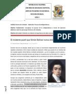 Guía 4. El incidente pueril que Simón Bolívar nunca olvidó