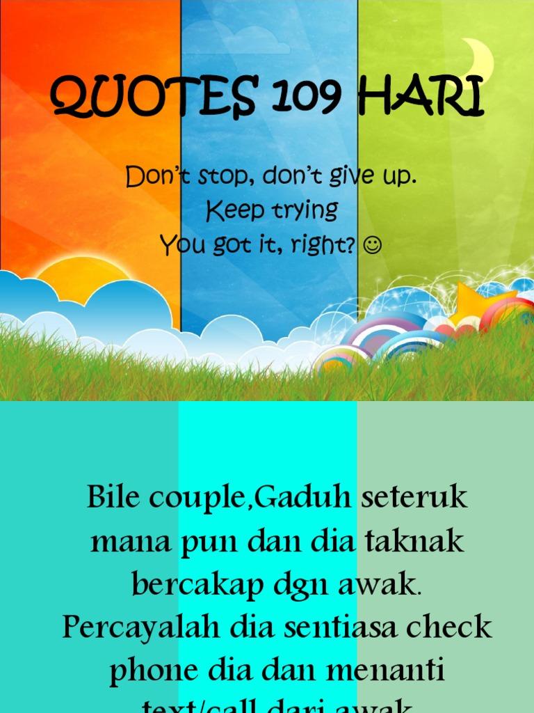 Quotes 109 Hari