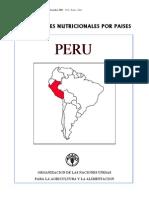 FAO - PERFILES NUTRICIONALES POR PAISES PERU