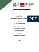 Resumen Tema 7 Oxidacion Reduccion. Pilas. Electrolisis