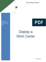Master Data - Display Work Center Gm 10-27-2010