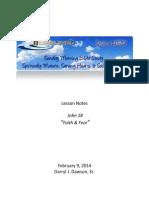 Lifelines Lesson 140209 - John 18 Faith & Fear - Darryl Dawson