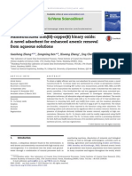 arsenic removal from water using nano adsorbents