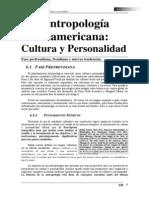 Antropologia Norteamericana - Cultura Y Personalidad de David Abenza