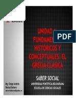 Unidad 1 Fundamentos históricos y conceptuales - Grecia Clásica (Avances)