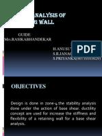 Seismic Analysis of Retaining Wall