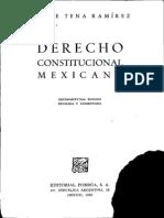 Derecho Constitucional Mexicano - Felipe Tena Ramirez[1]