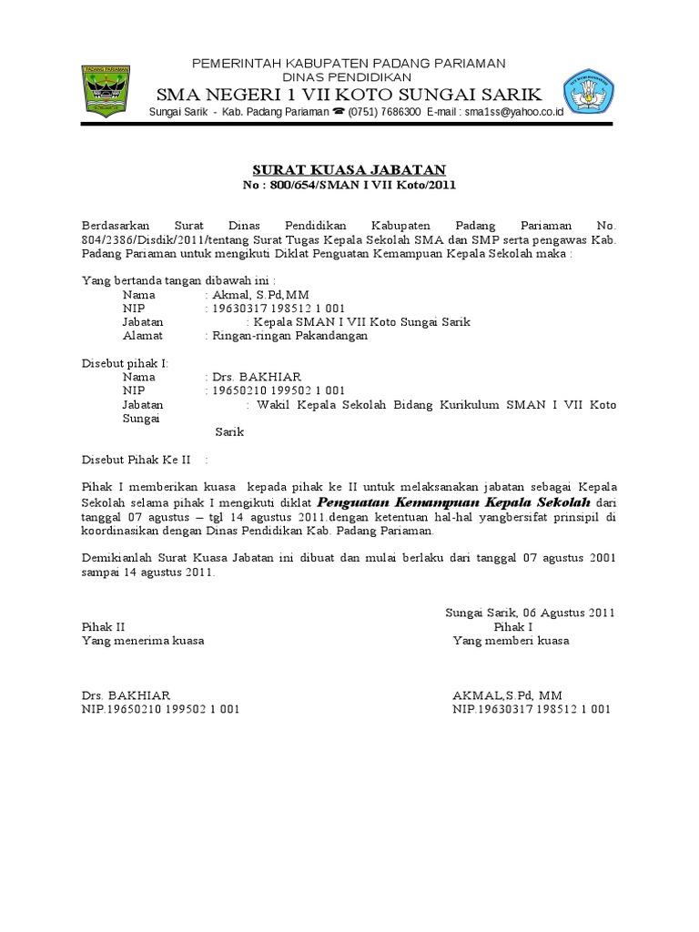 Surat Kuasa Jabatan