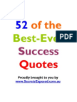 52 Best Ever Success Quotes