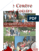 Centre de Loisirs Perche Sud, Guide des Parents 2009-2010