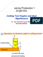 Cutting Tool Angles and Their Significance